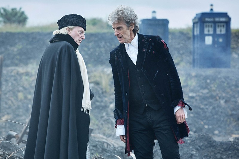 David Bradley and Peter Capaldi in Doctor Who: Twice Upon a Time