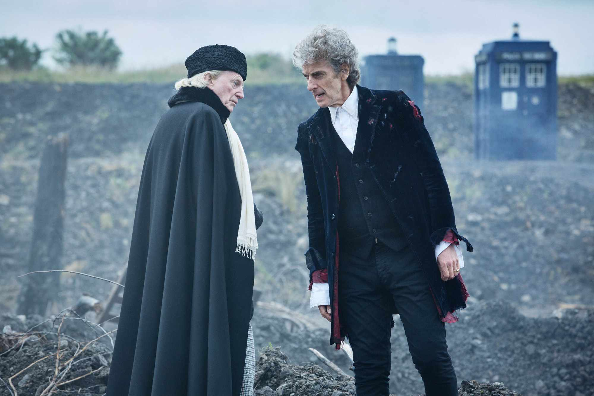 David Bradley and Peter Capaldi in the 2017 Doctor Who Christmas special