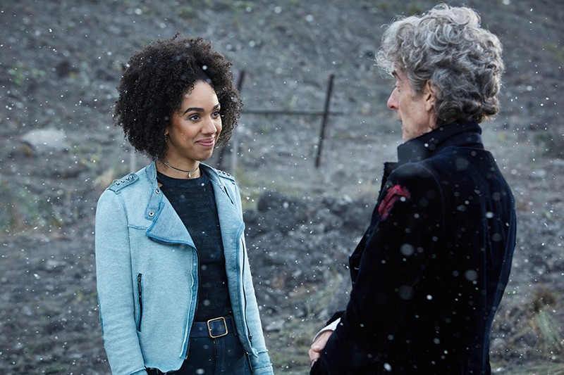 Pearl Mackie and Peter Capaldi in Twice Upon a Time