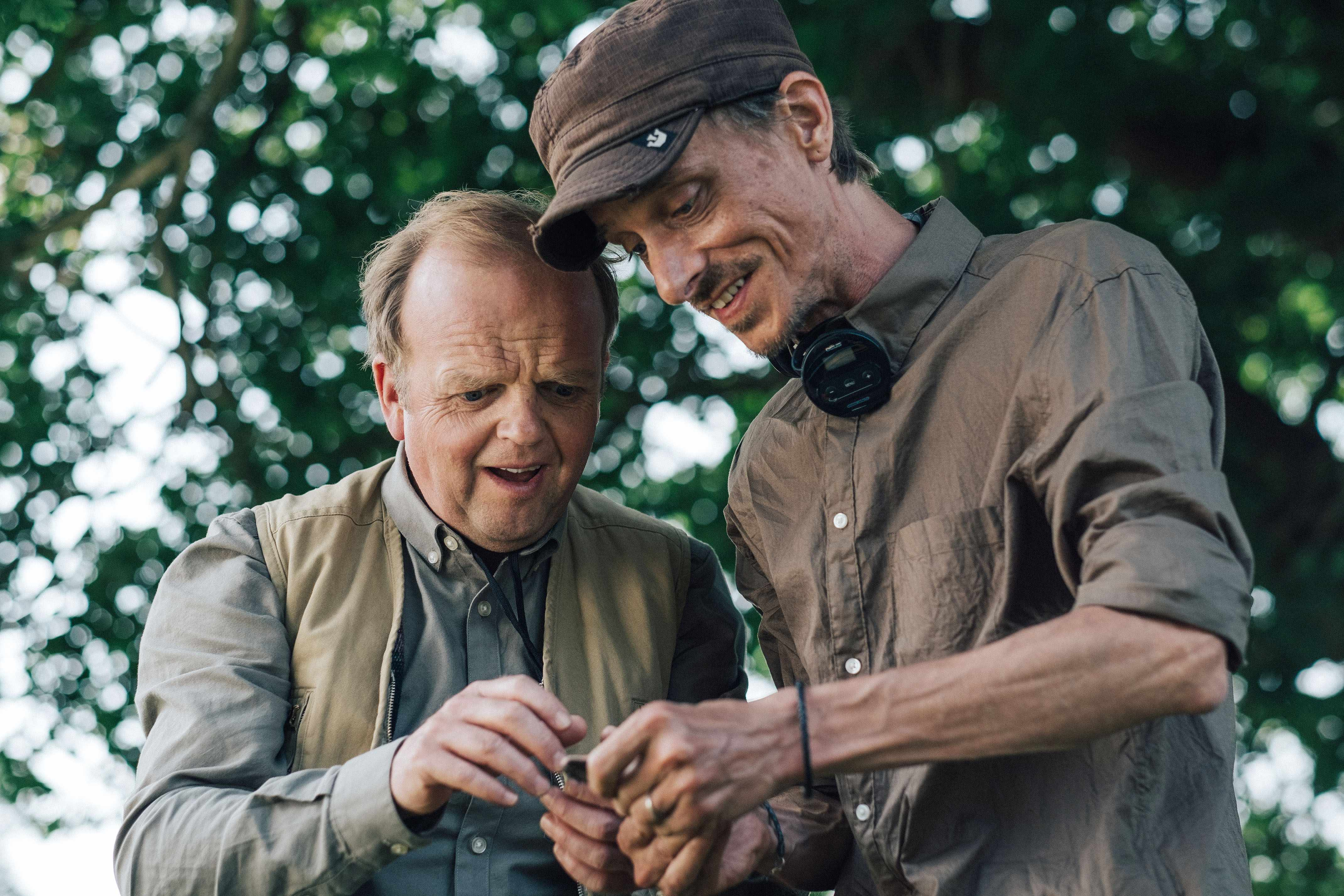 Programme Name: Detectorists series 3 - TX: n/a - Episode: n/a (No. n/a) - Picture Shows:  Lance (TOBY JONES), Andy (MACKENZIE CROOK) - (C) Channel X - Photographer: Chris Harris  BBC, TL