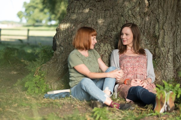 Programme Name: Detectorists series 3 - TX: n/a - Episode: n/a (No. n/a) - Picture Shows: Toni (REBECCA CALLARD), Becky (RACHAEL STIRLING) - (C) Channel X - Photographer: Chris Harris