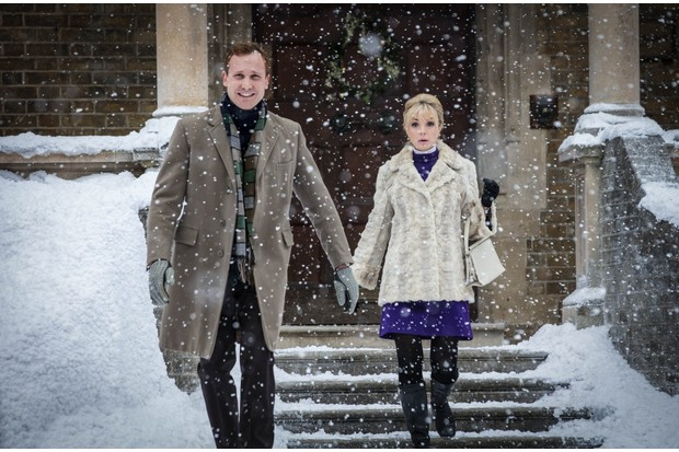 Christopher (JACK HAWKINS) and Nurse Trixie Franklin (HELEN GEORGE) in the Call the Midwife 2017 Christmas special