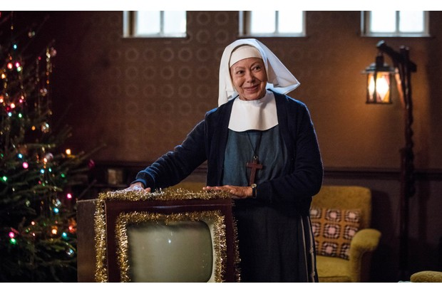 WARNING: Embargoed for publication until 00:00:01 on 09/12/2017 - Programme Name: Call the Midwife S7 - TX: 25/12/2017 - Episode: n/a (No. n/a) - Picture Shows: +++EMBARGOED UNTIL SATURDAY DECEMBER 9TH, 2017+++ Sister Julienne (JENNY AGUTTER) - (C) Neal Street Productions - Photographer: Sophie Mutevelian (BBC, TL)