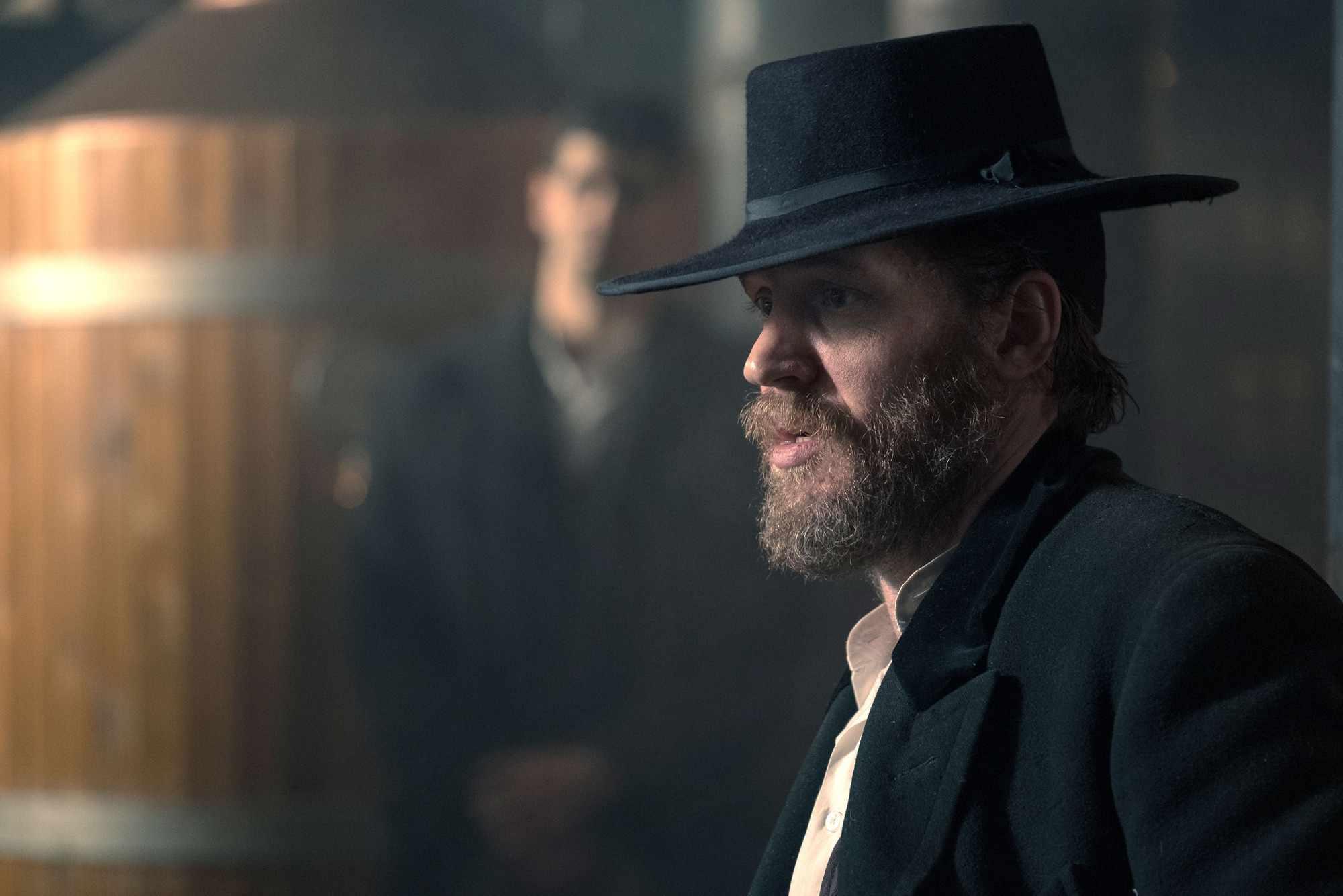 Tom Hardy in Peaky Blinders series 4 (BBC Pictures, JG)