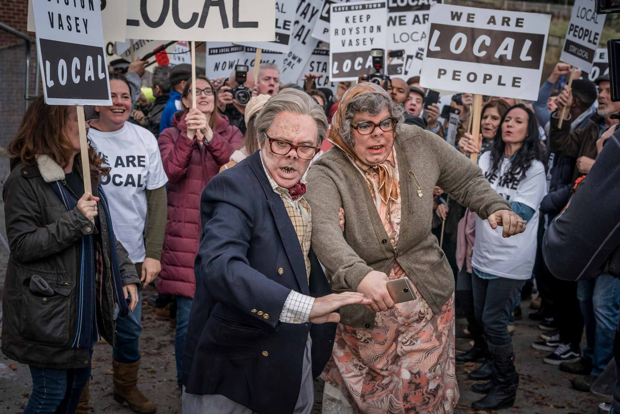 Edward (REECE SHEARSMITH), Tubbs (STEVE PEMBERTON) in The League of Gentlemen 20th anniversary special (BBC Pictures)