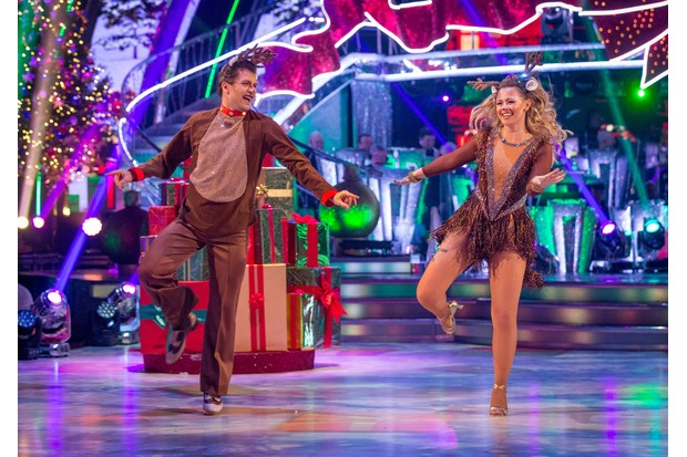 WARNING: Embargoed for publication until 00:00:01 on 09/12/2017 - Programme Name: Strictly Come Dancing Christmas Special 2017 - TX: n/a - Episode: Strictly Come Dancing Christmas Special 2017 (No. n/a) - Picture Shows: *STRICTLY NOT FOR PUBLICATION UNTIL 00:01HRS, SATURDAY 9TH DECEMBER, 2017* Pasha Kovalev, Kimberley Walsh - (C) BBC - Photographer: Guy Levy (BBC, TL)
