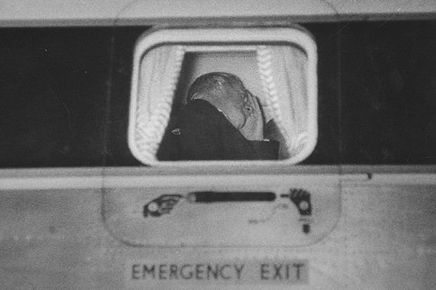 Anthony Eden leaves for Jamaica after the Suez Crisis