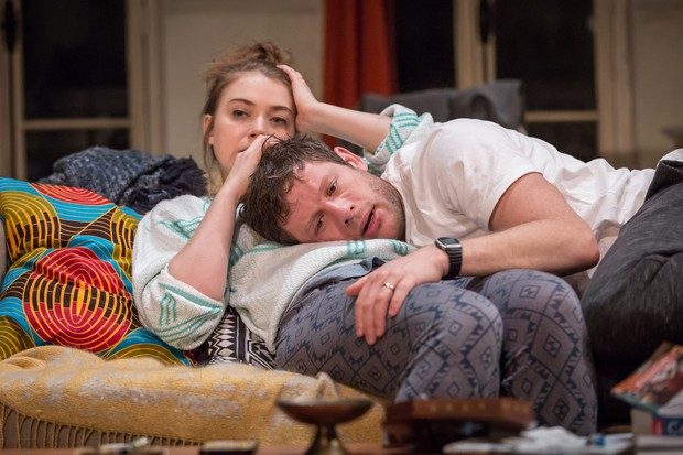 Imogen Poots and James Norton in Belleville; photos by Marc Brenner