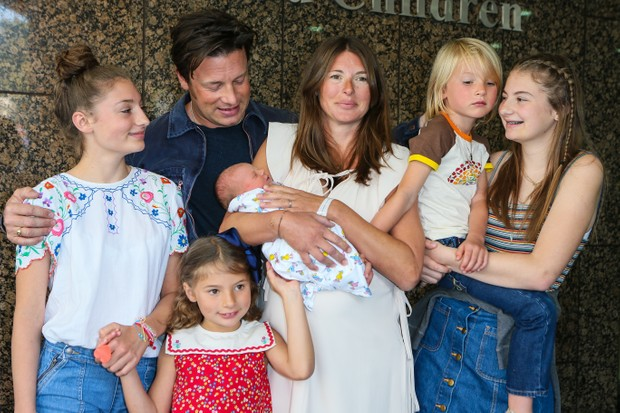 Jamie Oliver, Jools Oliver and family (Getty, EH)