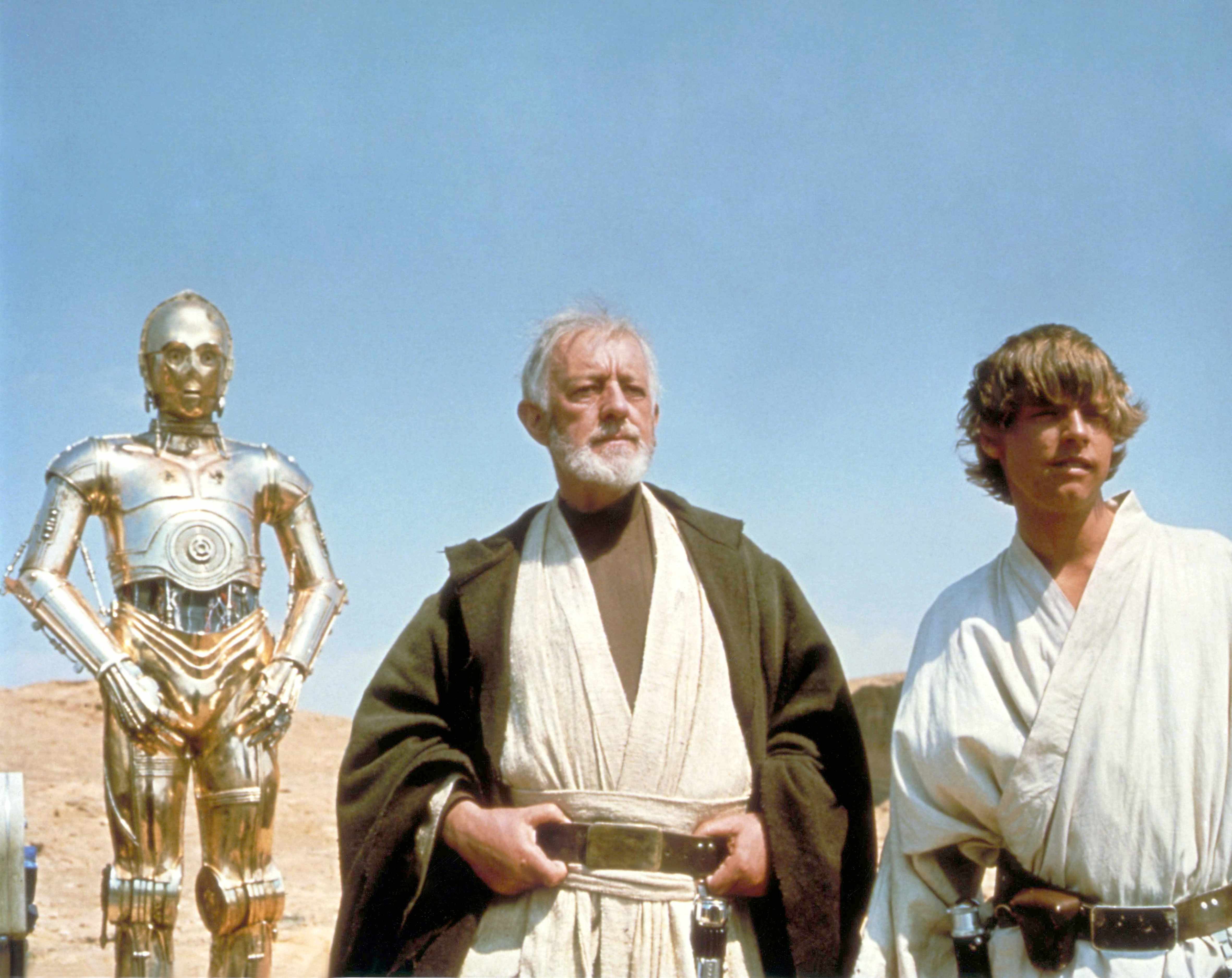 On the set of Star Wars: Episode IV - A New Hope (Getty, EH)