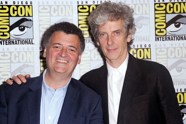 Steven Moffat and Peter Capaldi (Getty, HF)