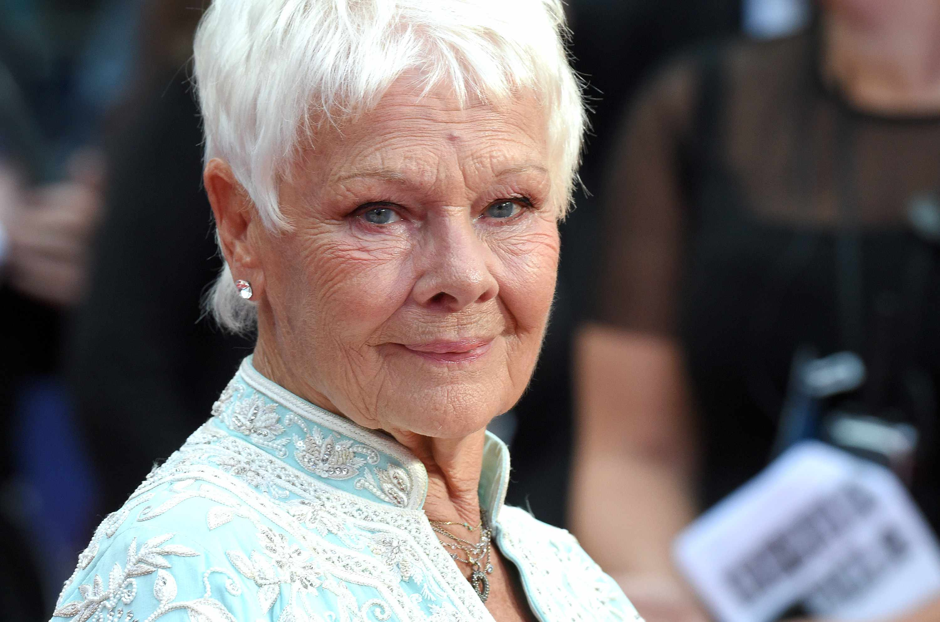 """LONDON, ENGLAND - SEPTEMBER 05:  Judi Dench attends the """"Victoria & Abdul"""" UK premiere held at Odeon Leicester Square on September 5, 2017 in London, England.  (Photo by Anthony Harvey/WireImage)"""