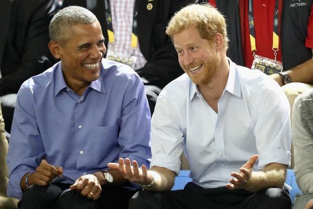 Prince Harry and President Barack Obama