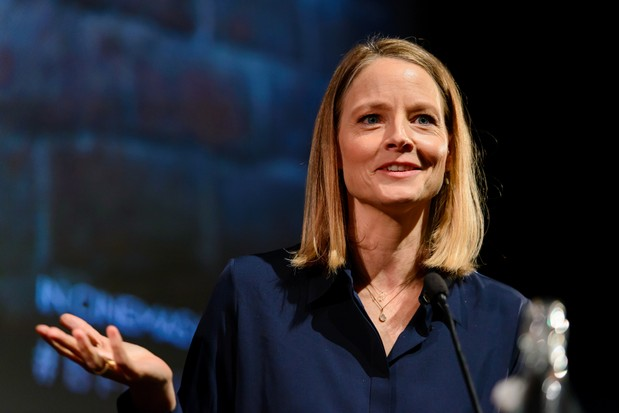 "LONDON, ENGLAND - NOVEMBER 03: Jodie Foster speaks at ""The Silence of the Lambs"" Q&A at BFI Southbank on November 3, 2017 in London, England. (Photo by Joe Maher/Getty Images) Getty, TL"