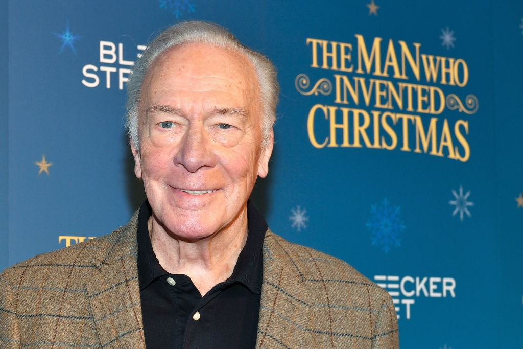 "NEW YORK, NY - NOVEMBER 12:  Christopher Plummer attends ""The Man Who Invented Christmas"" New York screening at Florence Gould Hall on November 12, 2017 in New York City.  (Photo by Dia Dipasupil/Getty Images, BA)"