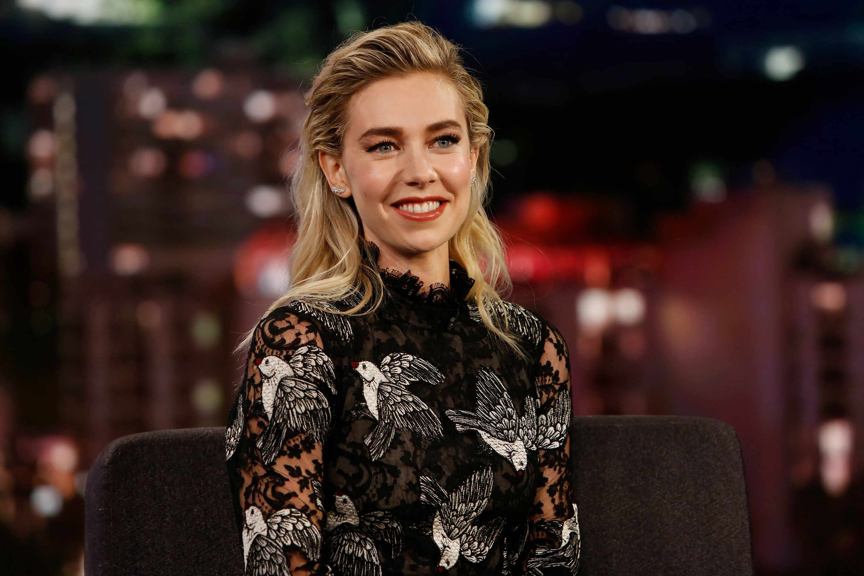 Vanessa Kirby on Jimmy Kimmel (Getty, TG)
