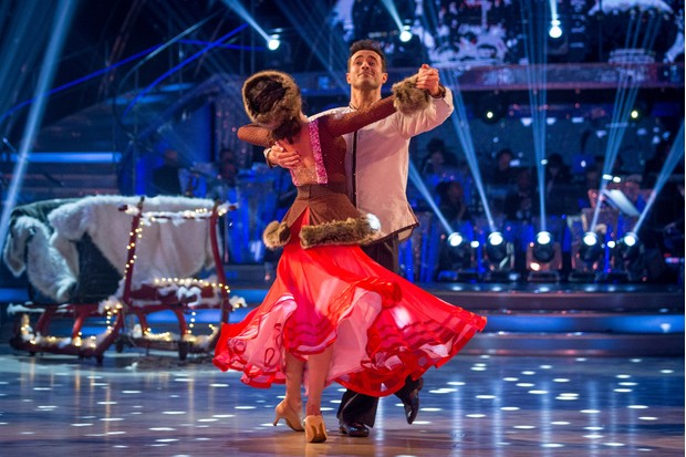 Programme Name: Strictly Come Dancing 2017 - TX: 16/12/2017 - Episode: Strictly Come Dancing 2017 - TX13 LIVE SHOW (No. n/a) - Picture Shows: +LIVE SHOW+ Katya Jones, Joe McFadden - (C) BBC - Photographer: Guy Levy