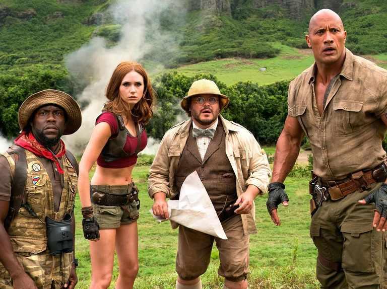 Karen Gillan and Dwayne Johnson share first look at Jumanji sequel