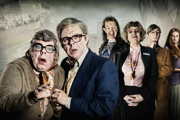 WARNING: Embargoed for publication until 00:00:01 on 07/12/2017 - Programme Name: The League of Gentlemen Anniversary Specials - TX: n/a - Episode: n/a (No. n/a) - Picture Shows:  Tubbs (STEVE PEMBERTON), Edward (REECE SHEARSMITH), Mickey (MARK GATISS), Pauline (STEVE PEMBERTON), Ross (REECE SHEARSMITH), Auntie Val (MARK GATISS) - (C) BBC - Photographer: Ben Blackall/James Stack/Matt Burlem