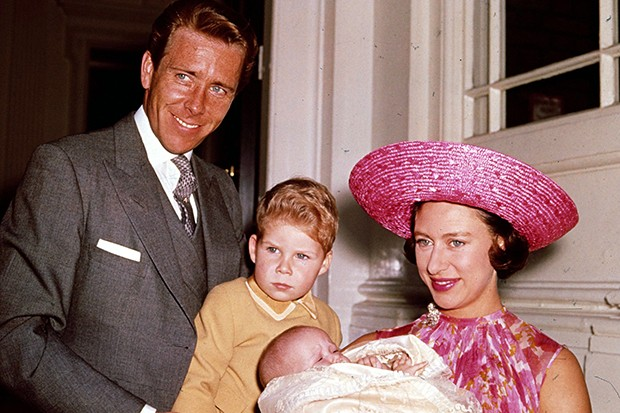 Lord Snowdon and Princess Margaret with their children in 1964