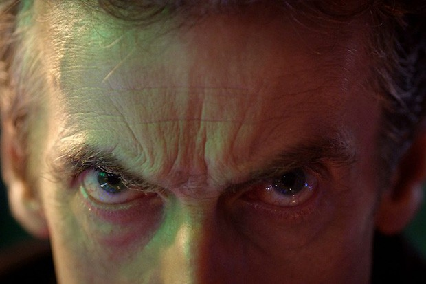 Peter Capaldi's eyes in Doctor Who