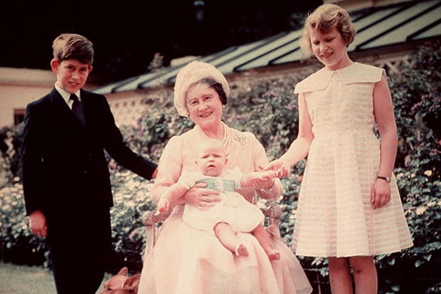 Prince Charles with the Queen Mother