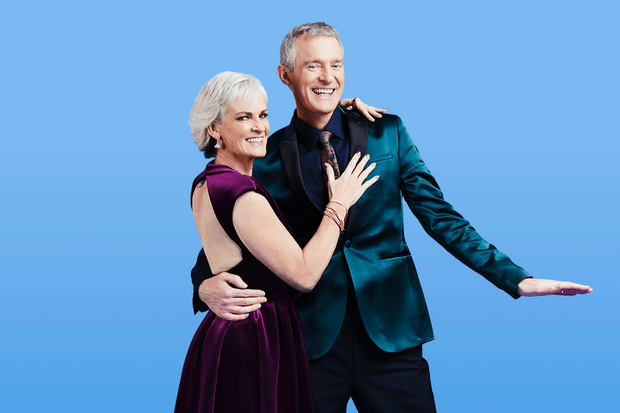 Jeremy Vine and Judy Murray, Strictly (RT shoot, EH)