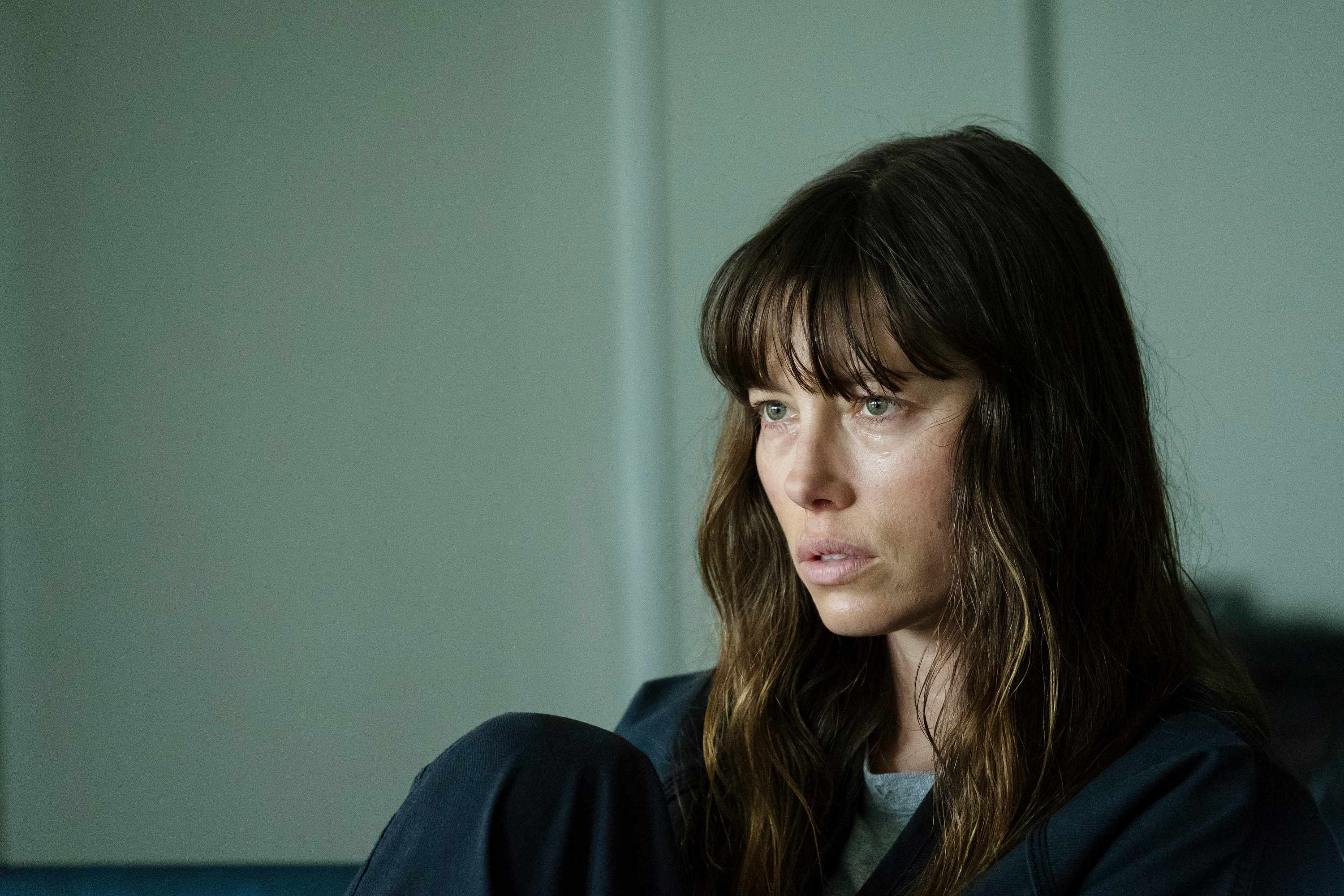 "THE SINNER -- ""Part III"" Episode 103 -- Pictured: Jessica Biel as Cora Tannetti -- (Photo by: Peter Kramer/USA Network, BA)"