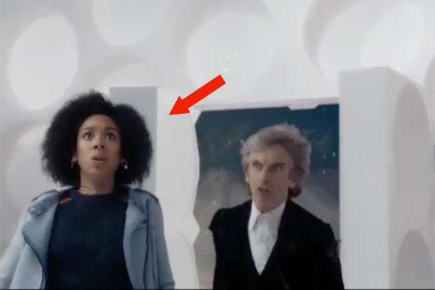 Pearl Mackie and Peter Capaldi in the First Doctor's Tardis in the Doctor Who Christmas special