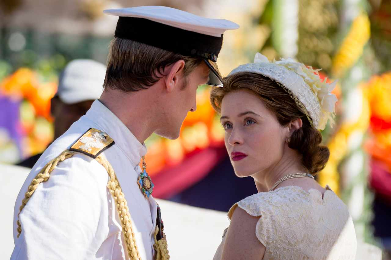 Matt Smith and Claire Foy as Prince Philip and Queen Elizabeth in The Crown season 2 (Netflix, JG)