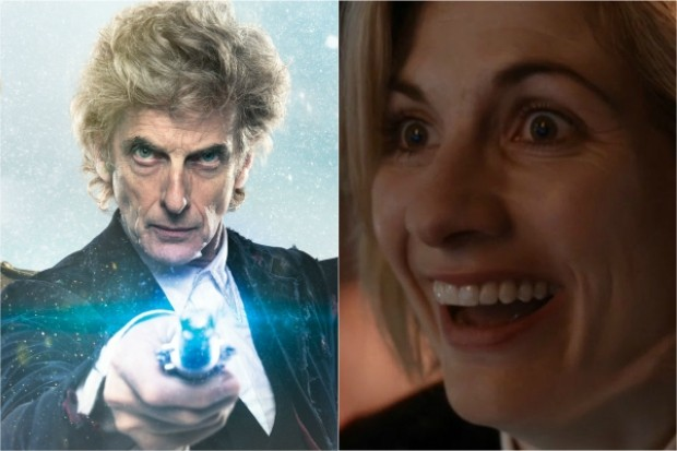 Peter Capaldi and Jodie Whittaker in the Doctor Who 2017 Christmas Special