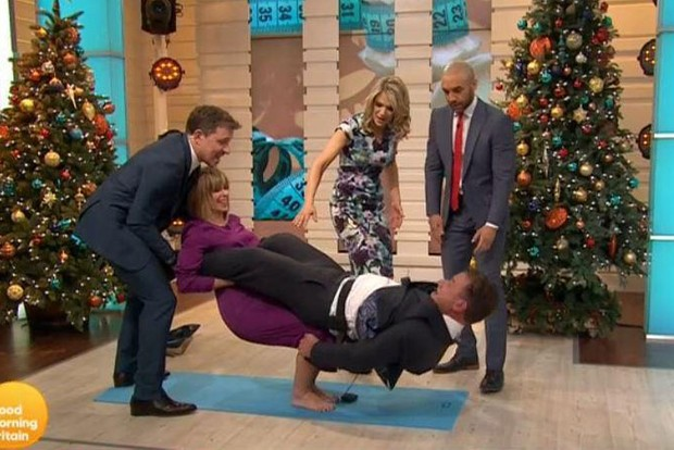 Kate Garraway and Richard Arnold try to create Joe and Katya's Strictly lift
