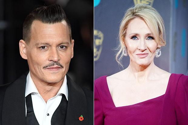Johnny Depp and JK Rowling, Getty, SL