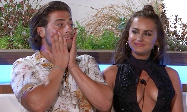Kem and Amber on Love Island (ITV)