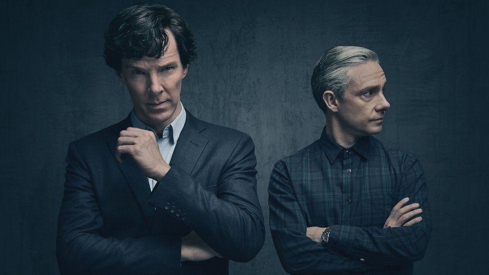 Benedict Cumberbatch and Martin Freeman in Sherlock series 4