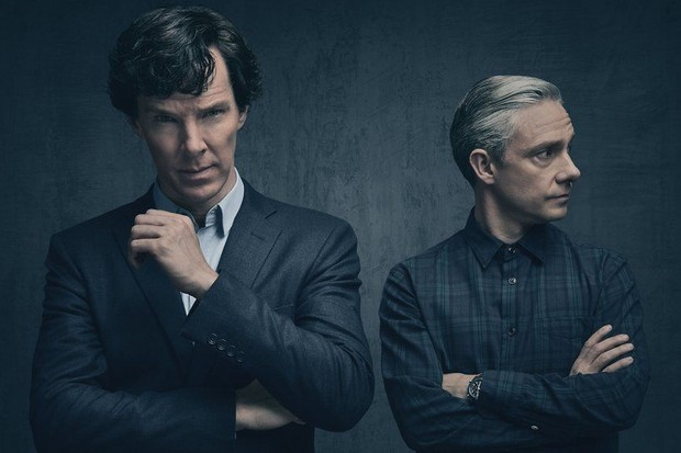 Benedict Cumberbatch and Martin Freeman in Sherlock series 4