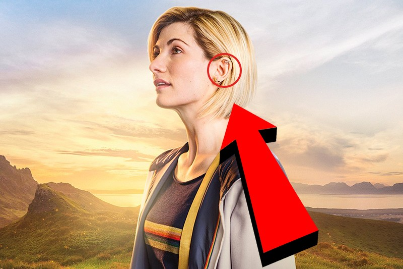 Jodie Whittaker (and her ear) in Doctor Who
