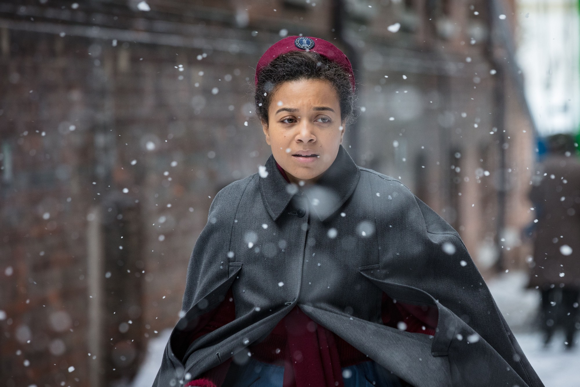 WARNING: Embargoed for publication until 00:00:01 on 16/01/2018 - Programme Name: Call the Midwife S7 - TX: n/a - Episode: n/a (No. n/a) - Picture Shows:  Lucille (LEONIE ELLIOTT) - (C) Neal Street productions - Photographer: Sophie Mutevelian  BBC, TL