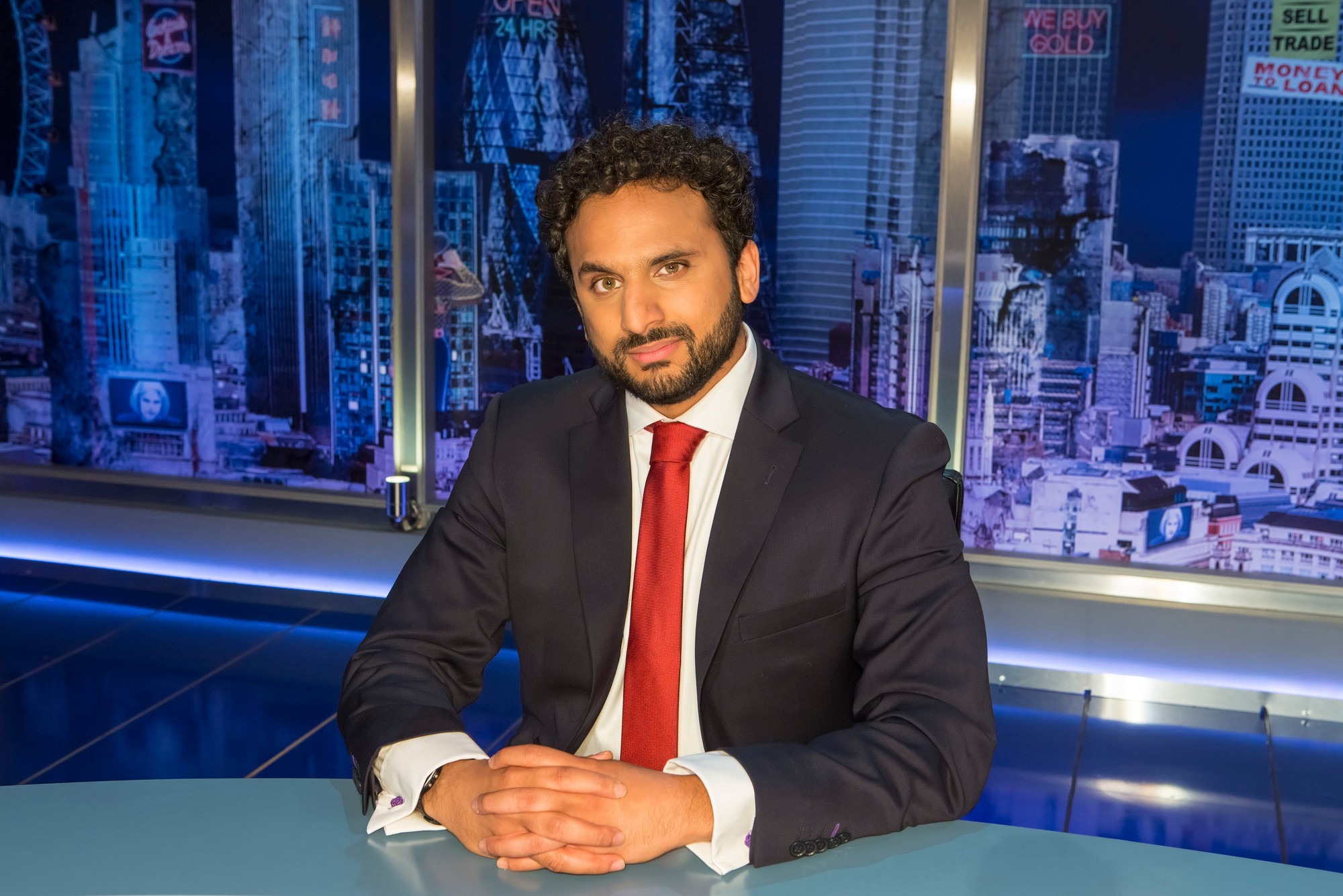 Programme Name: The Mash Report - TX: n/a - Episode: n/a (No. n/a) - Picture Shows:  Nish Kumar - (C) Endemol Shine UK - Photographer: Brian Ritchie  BBC, TL