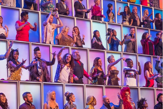 WARNING: Embargoed for publication until 00:00:01 on 23/01/2018 - Programme Name: All Together Now - TX: 27/01/2018 - Episode: n/a (No. 1) - Picture Shows: The 100, with Geri. - (C) EndemolShine - Photographer: Matt Squire