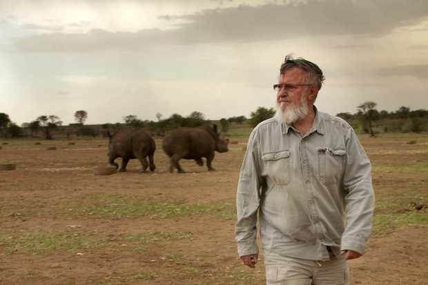 John Hume, the world's largest private rhino breeder (BBC, TL)