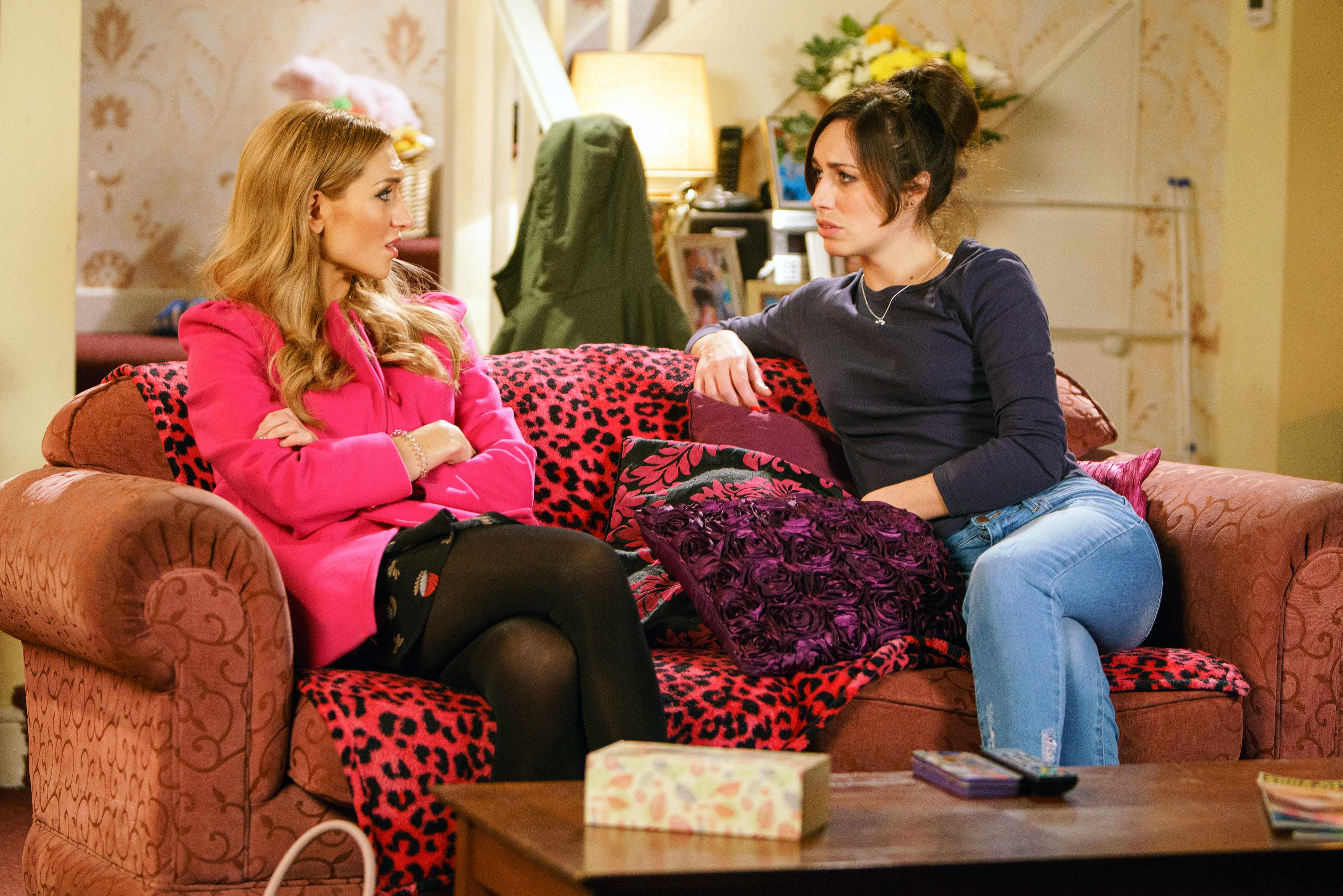 FROM ITV   STRICT EMBARGO  Print media - No Use Before Tuesday 9th January 2018 Online Media -  No Use Before 0700hrs Tuesday 9th January 2018  Coronation Street - Ep 9355  Wednesday 17th January 2018 - 1st Ep  Eva Price [CATHERINE TYLDESLEY] goes for a dating scan. She's in shock as she tells Shona [JULIA GOULDING] that she's 17 weeks pregnant but who is the daddy?   Picture contact - david.crook@itv.com  Photographer - Mark Bruce  This photograph is (C) ITV Plc and can only be reproduced for editorial purposes directly in connection with the programme or event mentioned above, or ITV plc. Once made available by ITV plc Picture Desk, this photograph can be reproduced once only up until the transmission [TX] date and no reproduction fee will be charged. Any subsequent usage may incur a fee. This photograph must not be manipulated [excluding basic cropping] in a manner which alters the visual appearance of the person photographed deemed detrimental or inappropriate by ITV plc Picture Desk. This photograph must not be syndicated to any other company, publication or website, or permanently archived, without the express written permission of ITV Plc Picture Desk. Full Terms and conditions are available on the website www.itvpictures.com
