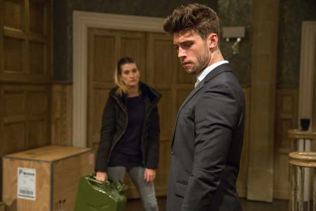 FROM ITV   STRICT EMBARGO  Print media - No Use Before Tuesday 16 January 2018 Online Media -  No Use Before 0700hrs Tuesday 16 January 2018  Emmerdale - Ep 8049   Monday 22nd January 2018  Joe Tate [NED PORTEOUS] arrives at Home Farm to find Debbie Dingle [CHARLEY WEBB] waiting for him as she explains sheÕs rigged the place. Joe loses his cool as Debbie scolds him for everything heÕs done. Cain and Ross arrive but will they manage to talk Debbie down?   Picture contact - david.crook@itv.com  Photographer - Amy Brammall  This photograph is (C) ITV Plc and can only be reproduced for editorial purposes directly in connection with the programme or event mentioned above, or ITV plc. Once made available by ITV plc Picture Desk, this photograph can be reproduced once only up until the transmission [TX] date and no reproduction fee will be charged. Any subsequent usage may incur a fee. This photograph must not be manipulated [excluding basic cropping] in a manner which alters the visual appearance of the person photographed deemed detrimental or inappropriate by ITV plc Picture Desk. This photograph must not be syndicated to any other company, publication or website, or permanently archived, without the express written permission of ITV Plc Picture Desk. Full Terms and conditions are available on the website www.itvpictures.com