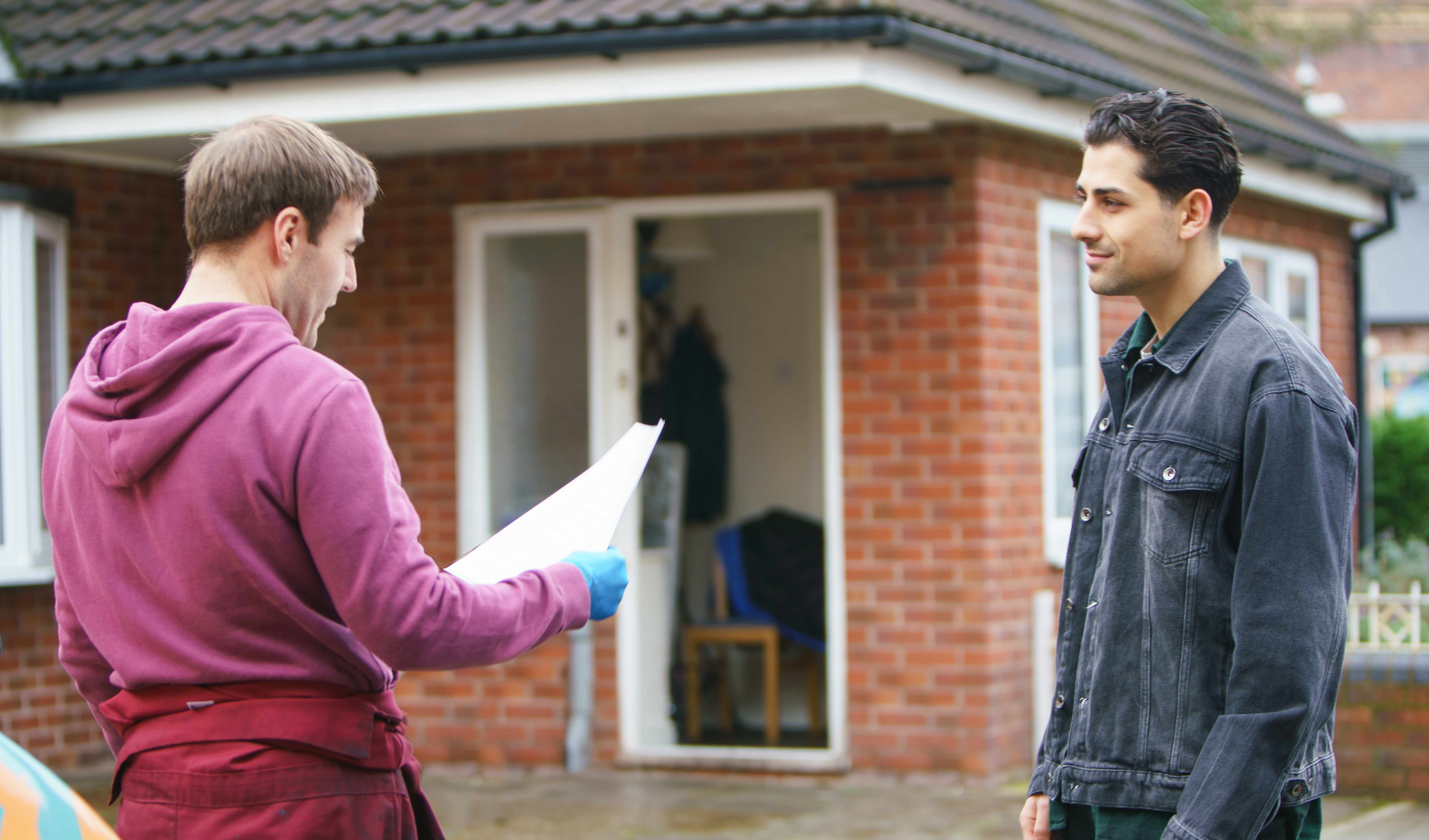 FROM ITV   STRICT EMBARGO  Print media - No Use Before Tuesday 16 January 2018 Online Media -  No Use Before 0700hrs Tuesday 16 January 2018  Coronation Street - Ep 9363  Friday 26th January 2018 - 1st Ep  Handsome newcomer Josh [RYAN CLAYTON] arrives at the garage to apply for the mechanic's job.   Picture contact - david.crook@itv.com  Photographer - Mark Bruce  This photograph is (C) ITV Plc and can only be reproduced for editorial purposes directly in connection with the programme or event mentioned above, or ITV plc. Once made available by ITV plc Picture Desk, this photograph can be reproduced once only up until the transmission [TX] date and no reproduction fee will be charged. Any subsequent usage may incur a fee. This photograph must not be manipulated [excluding basic cropping] in a manner which alters the visual appearance of the person photographed deemed detrimental or inappropriate by ITV plc Picture Desk. This photograph must not be syndicated to any other company, publication or website, or permanently archived, without the express written permission of ITV Plc Picture Desk. Full Terms and conditions are available on the website www.itvpictures.com