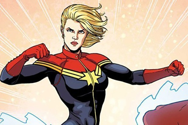 The comic-book version of Captain Marvel/Carol Danvers (Marvel Comics, HF)