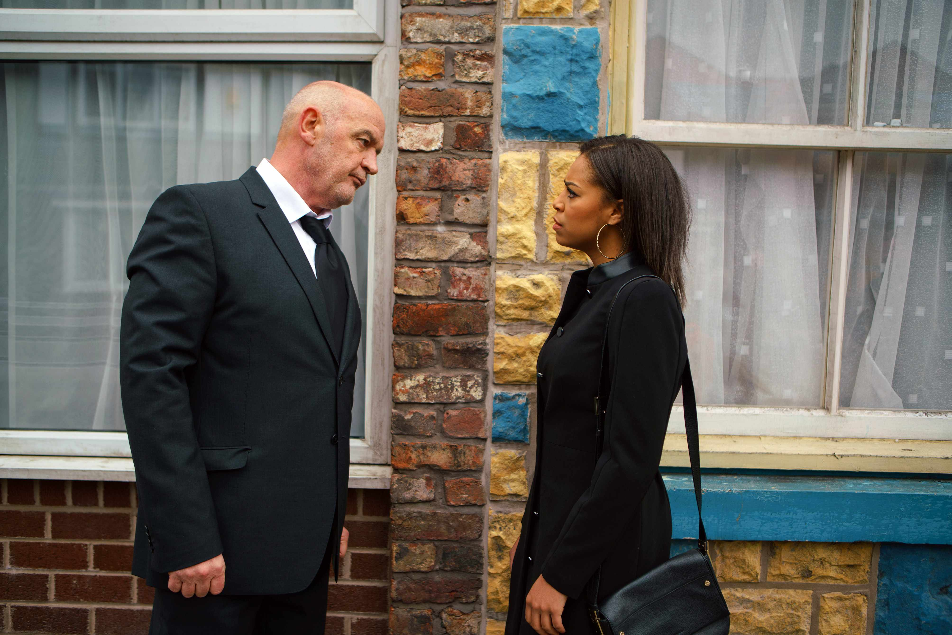 FROM ITV   STRICT EMBARGO  Print media - No Use Before Tuesday 23 January 2018 Online Media -  No Use Before 0700hrs Tuesday 23 January 2018  Coronation Street - Ep 9368  Wednesday 31 January 2018 - 2nd Ep  Steph Britton [TISHA MERRY] calls Phelan [CONNOR McINTYRE] an evil liar and accuses him of blackmailing Andy into burning down the garage.   Picture contact - david.crook@itv.com  Photographer - Mark Bruce  This photograph is (C) ITV Plc and can only be reproduced for editorial purposes directly in connection with the programme or event mentioned above, or ITV plc. Once made available by ITV plc Picture Desk, this photograph can be reproduced once only up until the transmission [TX] date and no reproduction fee will be charged. Any subsequent usage may incur a fee. This photograph must not be manipulated [excluding basic cropping] in a manner which alters the visual appearance of the person photographed deemed detrimental or inappropriate by ITV plc Picture Desk. This photograph must not be syndicated to any other company, publication or website, or permanently archived, without the express written permission of ITV Plc Picture Desk. Full Terms and conditions are available on the website www.itvpictures.com