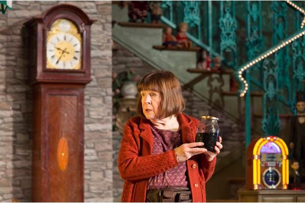 Marylouise Burke as Mertis. Photo: Stephen Cummiskey