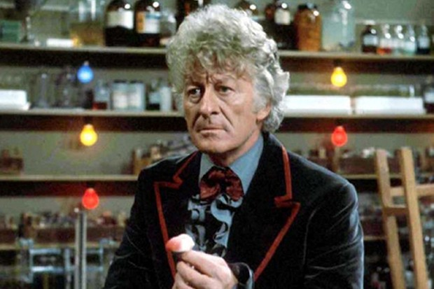 Jon Pertwee as the Third Doctor (BBC, HF)