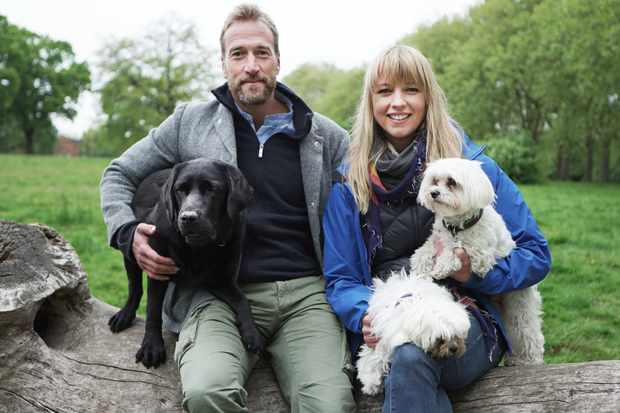 From Ricochet Productions  BRITAINS FAVOURITE DOGS: TOP 100 Tuesday 16th January 2018 on ITV   Pictured: Presenters Ben Fogle with his dog Storm and  Sara Cox with her dogs Dolly and Beano  For this two and a half hour programme we've carried out one of the comprehensive surveys of dog ownership in the UK ever to be undertaken.   With the help of the RSPCA, Petplan Insurance and a leading marketing firm, we asked 10,000 members of the canine loving public what type of dog they own, to reveal the top 100 dog breeds in Britain today.   Over the course of the show we run down the chart from 100 to 1. Along the way we meet owners with heart-warming, extraordinary or funny stories about their dog, including celebrity dog fans Geri Haliwell, Simon Gregson, Gok Wan, James Martin, Gabby Logan, Louis Smith, Michael Ball, Phillip Schofield, Holly Willoughby and even Prince Harry.   We feature fascinating facts about the heritage, key characteristics and personality traits of every single breed in the chart illustrated by beautifully captured slow motion images of each and every dog. It's an epic dog-athon of a show celebrating the love between dog owners and their best friends, but which breed did you the public vote number one?    © Ricochet Productions  For further information please contact Peter Gray 0207 157 3046 peter.gray@itv.com    This photograph is © Ricochet Productions and can only be reproduced for editorial purposes directly in connection with the  programme Britain's Favourite Dogs: Top 100 or ITV. Once made available by the ITV Picture Desk, this photograph can be reproduced once only up until the Transmission date and no reproduction fee will be charged. Any subsequent usage may incur a fee. This photograph must not be syndicated to any other publication or website, or permanently archived, without the express written permission of ITV Picture Desk. Full Terms and conditions are available on the website www.itvpictures.com