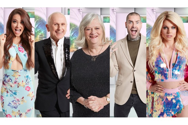 Celebrity Big Brother Jess, Wayne, Ann, Shane and Courtney